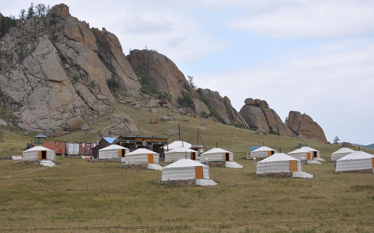 campamento de yurtas